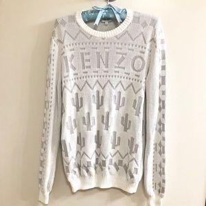 Kenzo White Logo Sweater